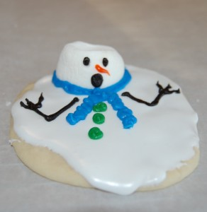 Melted Snowman Cookie 3